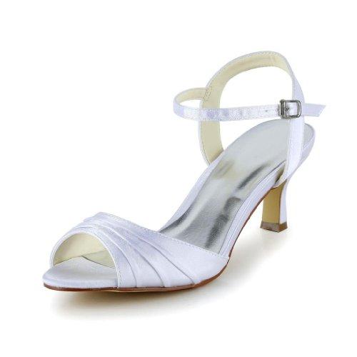 1403115 tacco Scarpe Jia Jia donna Sposa Wedding col Bianco Scarpe 7EUWqH