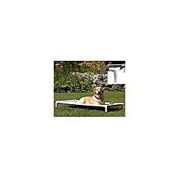 PetEdge PVC and Nylon Pipe Dream Elevated Dog Bed, X-Large