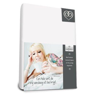 Bed-Fashion Lenzuolo con Angoli per materassi, in Jersey, Bianco, Matrimoniale, 160x 210cm Prezzi offerte