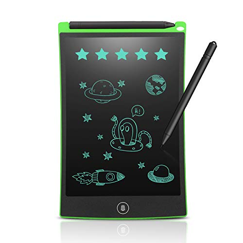 (Newyes 8.5-Inch LCD Writing tablet-Can Be Used as office Whiteboard Bulletin Board Kitchen Memo Notice Fridge Board Large Daily Planner Gifts for kids(Green))