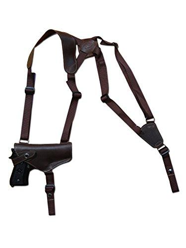 Barsony New Horizontal Brown Leather Shoulder Holster for SIG-SAUER 225 226 228 Right (Shoulder Holster Sig Sauer 228)
