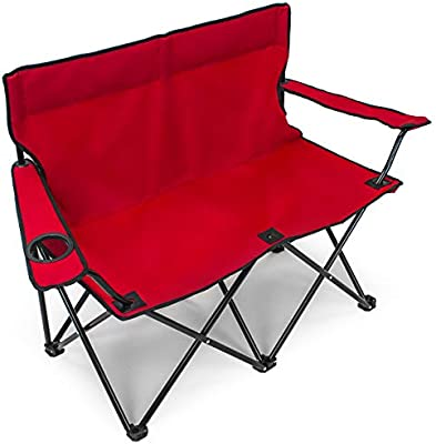 Miraculous Sorbus Double Folding Chair With Cup Holder Cooler Foldable Creativecarmelina Interior Chair Design Creativecarmelinacom