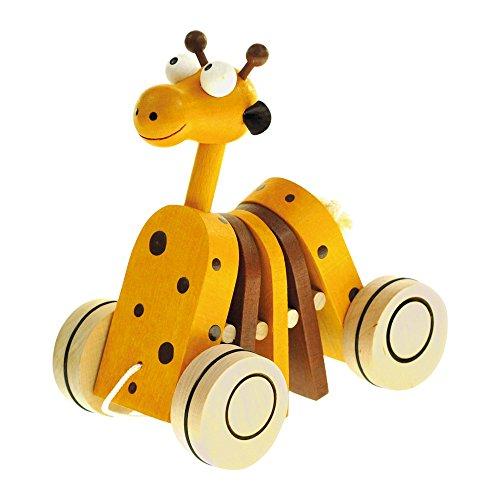 Bino 90987 - Nachziehspielzeug - Mertens Ziehtier Giraffe