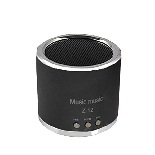 Mini Speakers,AutumnFall Wireless Portable Mini Speaker FM Radio USB Micro SD TF Card MP3 Player (Black)