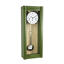 Qwirly ROSSLYN Regulator Wall Clock with 8-Day Westminster Chime by Hermle, 70963-DG0341 Close Out