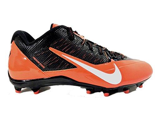Nike_ Herren Alpha Pro TD Fußballschuh Schwarz / Weiß / Orange
