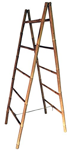 Master Garden Products BLD-60 5' Folding Double Bamboo Ladder Rack