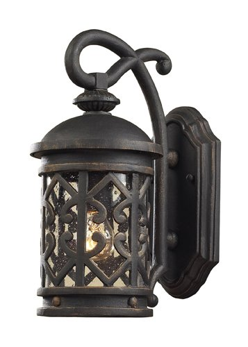 Weathered Cast - ELK 42060/1, Tuscany Coast Cast Aluminum Outdoor Wall Sconce Lighting, Weathered Charcoal
