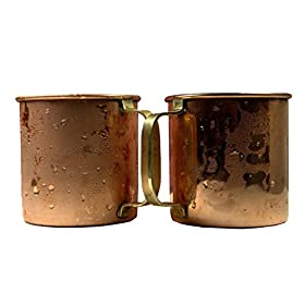 A29 Moscow Mule 100% Solid Pure Copper Mug/Cup (16-Ounce/Set of 4, Hammered...