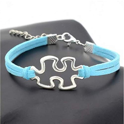 on Charm Autism Infinity Love Woven Bracelet Jewelry Gift 1pcs Color Blue ()