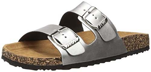 Anna Shoes Womens Glory-100 Sandal Silver 8 B(M) US