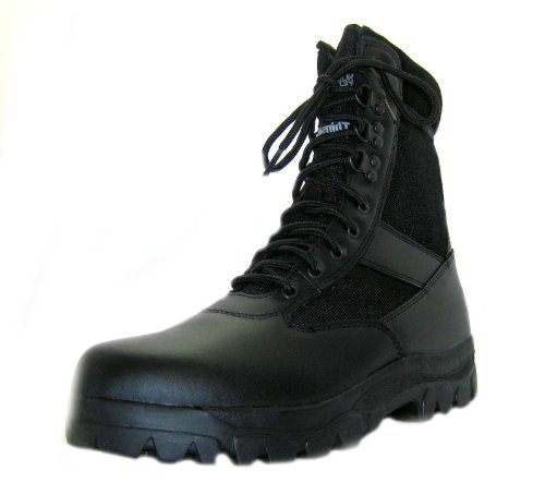 Size 9 Northwest Territory Men's Commando Black Lace Up Leather Military Boots