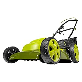 Sun Joe Electric Lawn Mower 70 Maintenance free - No gas, oil or tune-ups Detachable grass catcher for easy disposal; Grass collection bag capacity: 14. 5 gal Best use: small to mid-sized lawns