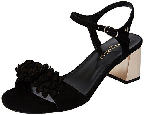 Sandali Donna Alla 3337a Black Caviglia Con Patty 1350 Cinturino Martinelli black Nero UfxqwRa6nt