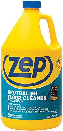 Zep Neutral pH Floor Cleaner Concentrate 1 Gallon ZUNEUT128 - Pro Trusted All-Purpose Floor Cleaner with No Residue,Blue (packaging would possibly range)