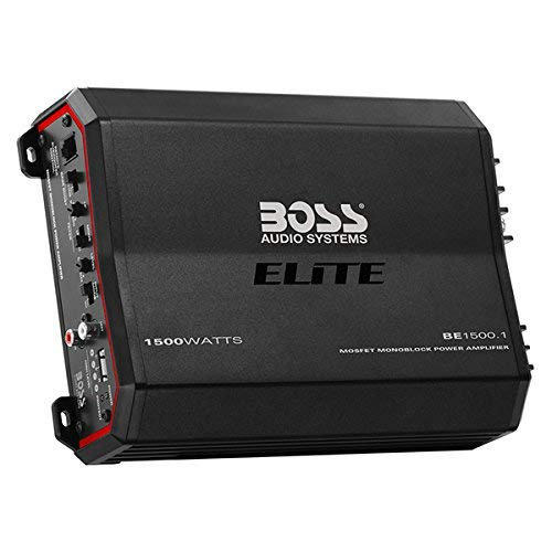 BOSS Audio Elite BE1500.1 Monoblock Car Amplifier - 1500 Watts, 2/4 Ohm Stable, Class A/B, MOSFET Power Supply, Great For Subwoofers