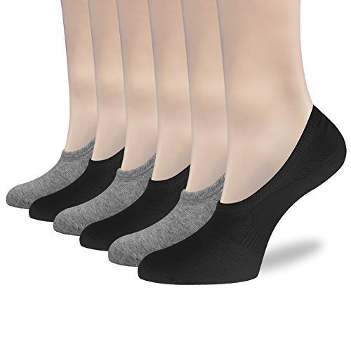 s Women Invisible Liner Socks Womens Thin Low Cut Casual Non Slip Ankle Socks ()
