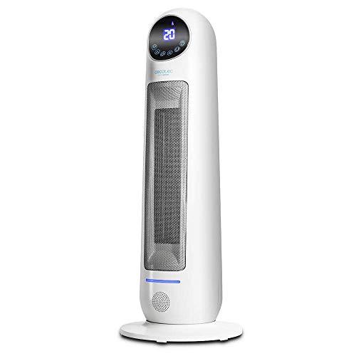 Cecotec Calefactor Baño Cerámico Ready Warm 10100 Smart Ceramic. Vertical, Digital, 2000 W, Termostato Regulable…
