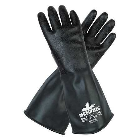 """Mcr Safety CP14RM 14"""" Long Butyl Rubber Gloves with 14 mi..."""