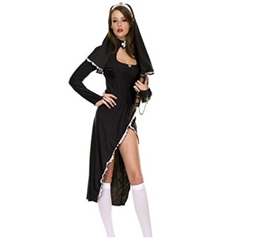 [CICI 18 Black Nun Costume for Women] (2016 Womens Halloween Costumes Diy)