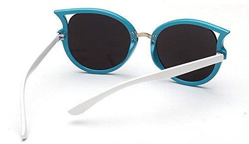 en Style Rond Hommes Steampunk de Métallique Lunettes du Femmes Polarisées et Inspirées Cercle Bleu Soleil Retro Pour Film xPXqwP81fO