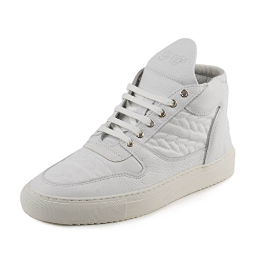 Filling Pieces Mens Mid Top Transformed SS15 Bracelet White Leather Size 40 60d35a7a2ea
