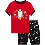 Dolphin&Fish Boys Pajamas 100% Cotton Short Sleeve Toddler Pjs Set Kids Sleepwear