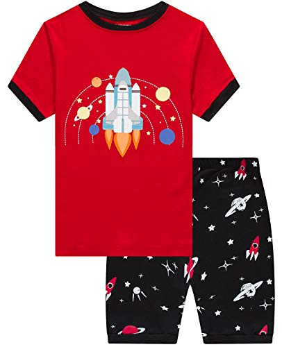 Dolphin&Fish Boys Pajamas 100% Cotton Space Summer Short Set Toddler Clothes Kids Pjs Sleepwear Size 10 ()