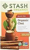 Stash Tea Organic Chai Black Tea Blend of Organic Black & Green Teas 18 Count Tea Bags in Foil (Pack of 6) (Packaging May Vary) Individual Black Tea Bags for Teapots Mugs or Cups, Brew Hot or Iced Tea