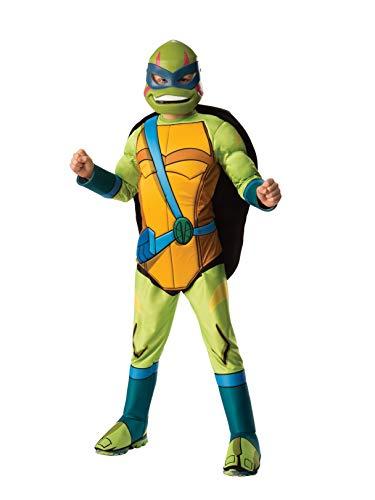 Rubie's Child's Rise of The Teenage Mutant Ninja Turtles Deluxe Costume, Leonardo, -
