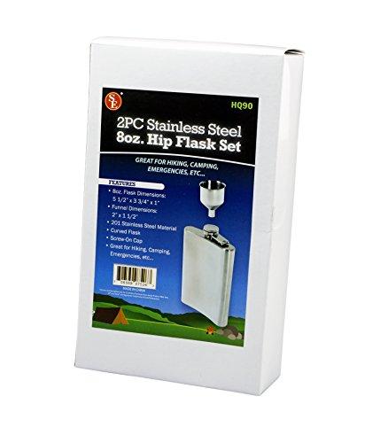 SE-HQ90-Stainless-Steel-8-Oz-Hip-Flask-Funnel-Set