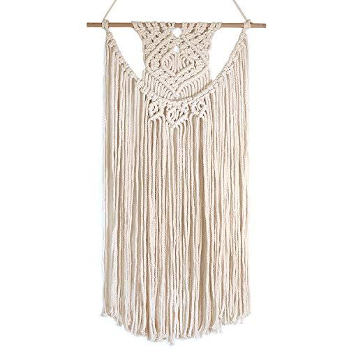 "- Barnyard Designs Macrame Wall Hanging Fringe Woven Wall Tapestry Boho Chic Bohemian Decor, Dipped Weave 28"" x 16"" (1, Dipped Weave)"