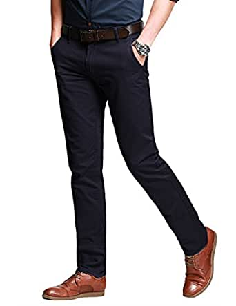 Match Men's Slim Fit Tapered Stretchy Casual Pants (29W x 31L, 8050 Army gray#8) Tag Size Small