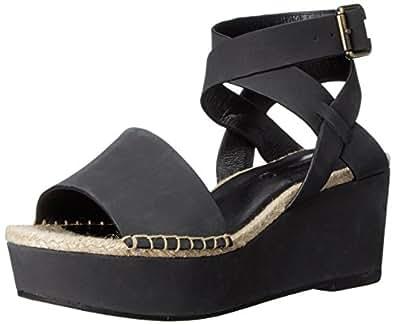 Amazon.com | kensie Women's Teal Platform Sandal, Black