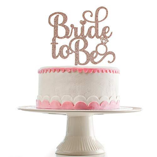 Rose Gold Glittery Bride To Be Cake Topper for Wedding Bachelorette Party Decoration Supplies