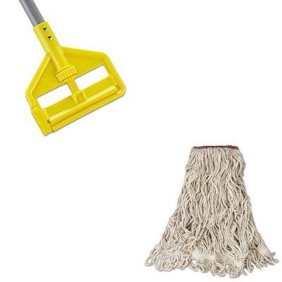KITRCPD213WHIRCPH146 - Value Kit - Rubbermaid Super Stitch Blend Mop Head (RCPD213WHI) and Rubbermaid Invader Fiberglass Side-Gate Wet-Mop Handle (RCPH146) by Rubbermaid