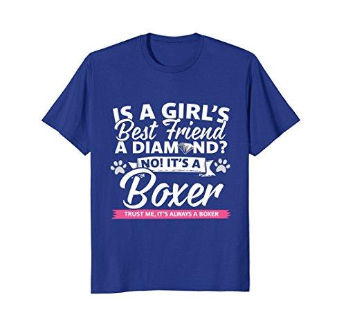 Best Friend Boxer - Mens Funny Boxer Diamond Best Friend T-Shirt For Women & Girls 3XL Royal Blue