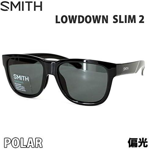 スミス スミス サングラス 偏光レンズ LOWDOWN SLIM 2 黒 - POLAR グレー SMITH サングラス 日本正規品【C1】