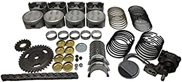 Amazon Com 5 7l 350 Vortec Marine Engine Rebuild Kit For Mercruiser Volvo Penta Indmar Marine Power Gm Marine Engines Years 1997 2015 Silver Kit Automotive