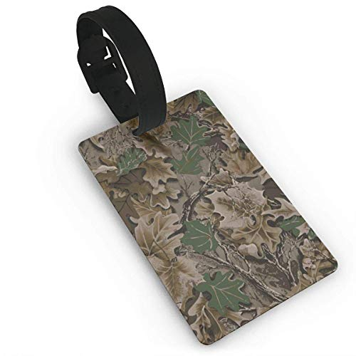 (ASUIframeNJK Realtree Camo Wallpapers Luggage Tags Travel ID Bag Tag for Suitcase,Printed Luggage Tags,Flexible PVC Travel ID Identification for Bags Size 2.2 X 3.7 inches)