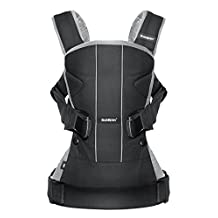 BABYBJORN Baby Carrier One - Black/Silver, Cotton