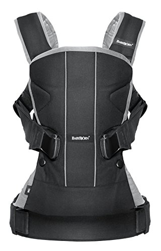 BABYBJORN Baby Carrier One - Black/Silver, Cotton by BabyBjörn