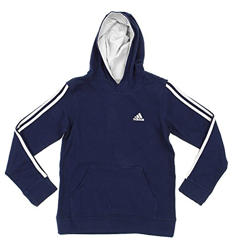 Adidas Big Boys Youth Game Time Pullover Fleece Hoodie, C Navy White