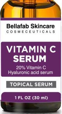 MEILLEUR C20 vitamine C SERUM pour le visage à l'acide hyaluronique. Haut Anti vieillissement de sérum. Taches sombres se fanent, les cicatrices d'acné, réduisent l'apparence des ridules et des rides. Effacement de la crêpe. Organique et de la cruauté gra