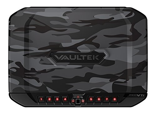 Vaultek VTi Full-Size Biometric Handgun Bluetooth Smart Safe Multiple Pistol Safe with Auto-Open Lid and Rechargeable Battery (Camo)
