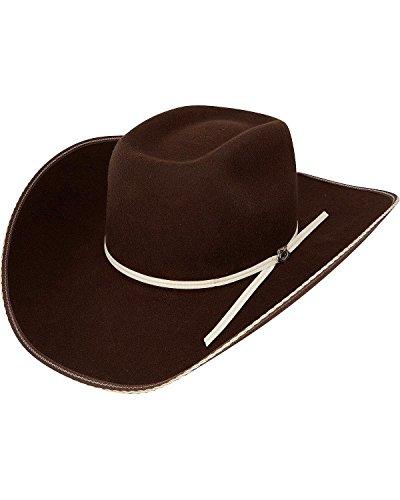 (Resistol Men's 4X Tuff Hedeman Snake Eyes Felt Cowboy Hat Cordovan 7)