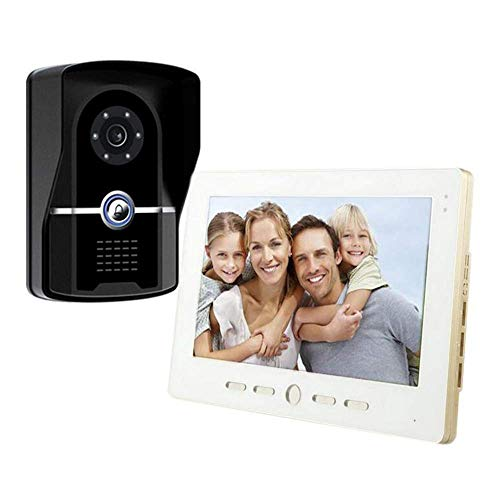 RUI Doorbell@ Videoportero Intercomunicador Timbre Monitor A Color De 10 Pulgadas Y Cámara HD con Timbre De Video Y Cable...
