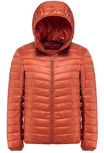 Uomini Con Arancione Cappotto Trapuntata Cerniera Verso Ragazzo Del Cappuccio Basso Invernale Ultraleggero Moda Giacca Esterna Il Con Clásico Gli Laisla 6gw4xCq