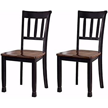 Amazon.com: Home Styles 5178-802 Dining Chairs, Black Finish, Set ...