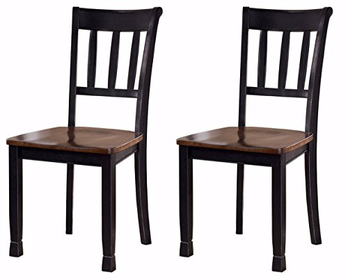 Ashley Furniture Signature Design - Owingsville Dining Room Side Chair - Latter Back - Set of 2 - - Set Country Bench
